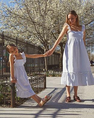 mommy and me blue summer dress-shoulder