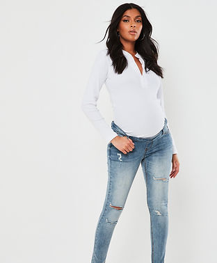 maternity cut out jeans-maternity slim j