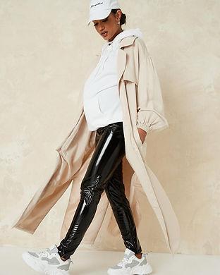 maternity pleather pants-maternity shiny