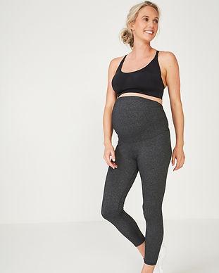 grey maternity leggings-maternity yoga p