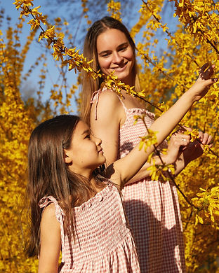 matching smock dress mommy and daughter-