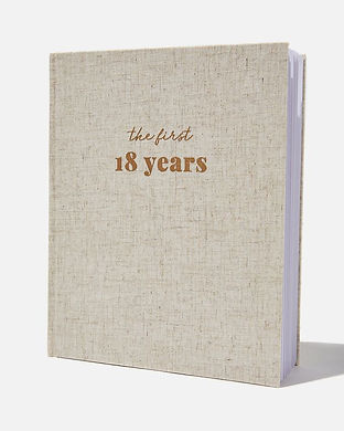 first 18 years baby book-baby shower uni