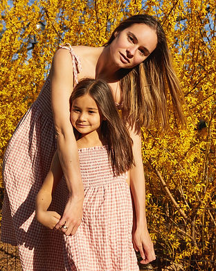 summer pink mommy and me summer dresses-