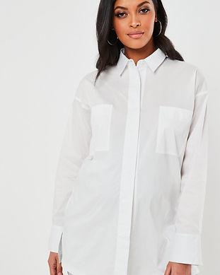 maternity white man shirt-maternity whit