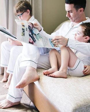 matching fathers and son pajamas-matchin