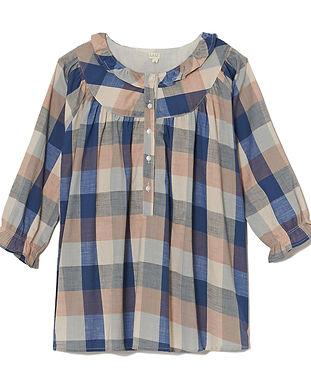 maternity checker shirt-maternity blue c