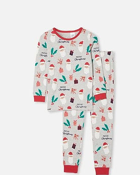 red christmas family matching pjs-christ