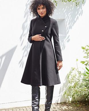 maternity wool coats-maternity stylish c