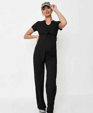 black maternity jumpsuit-maternity jumps