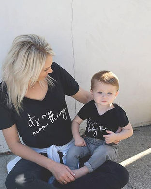 matching mommy and baby tshirts-unisex m