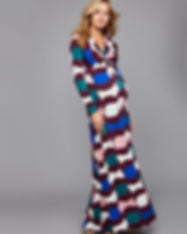 Twist Front Maxi Maternity Dress-fitted