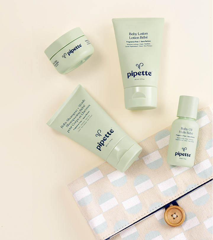 Baby's gentle, hydrating skincare necessities shrunk down to miniature form.