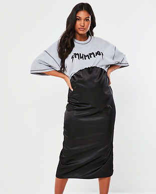 maternity black skirts-shiny-maternity s