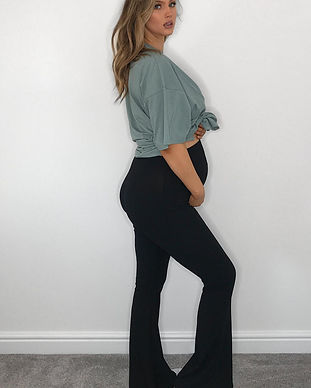 maternity bell bottom pants-maternity fl