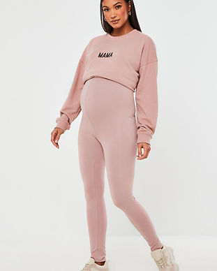 maternity leggings-maaternity pink leggi