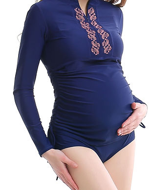 long sleeve maternity bathing suits-long