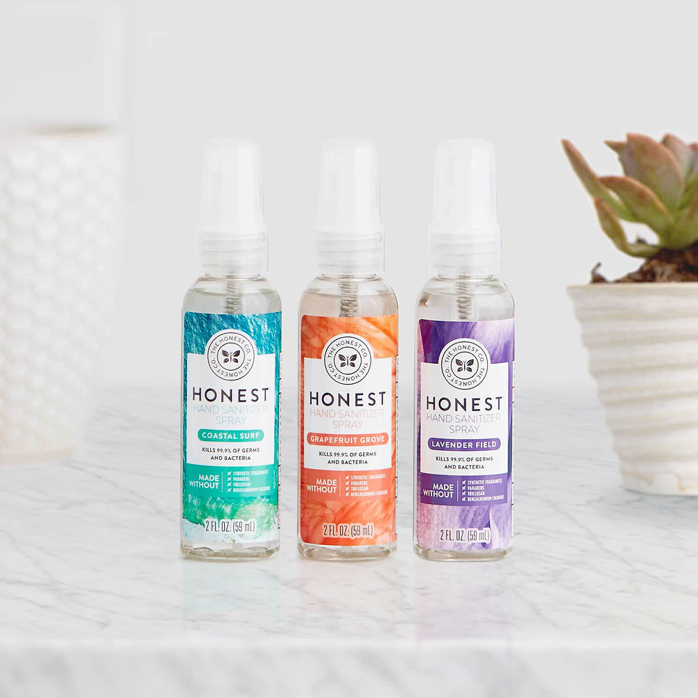 Scented hand sanitizer with essential oils