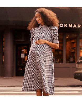 maternity shirt dress-maternity puffy sl