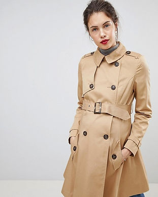 maternity trench coat-with bel-maternity