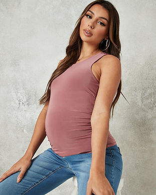 maternity pink tank top-sexy maternity s