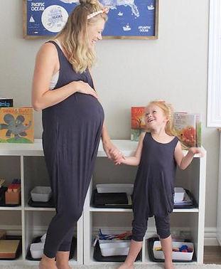 maternity romper-postpartum jumpsuit-mat