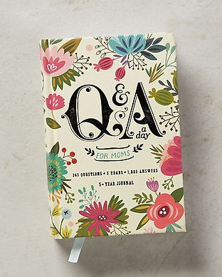 new mom journal-Q and A a Day for Moms-