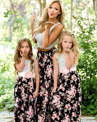 mommy and me spring maxi dresses-mommy a