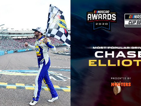 Elliott wins Most Popular Driver Award for third straight year
