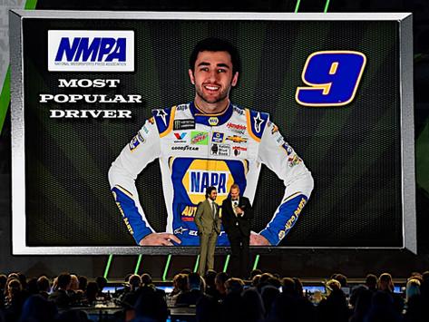 ELLIOTT WINS MOST POPULAR DRIVER AWARD IN NASCAR CUP SERIES