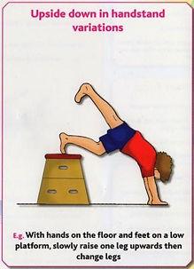 Gymnastics B9 - Upside down in handstand variations