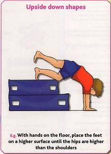 Gymnastics Pre-school - Upside down shapes