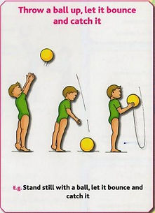 Gymnastics C10 - Throw a ball up let it bounce & ca