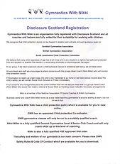 Gymnastics With Nikki Disclosure Scotland Registrationy