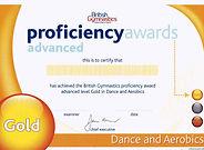 Gymnastics Gold Dance