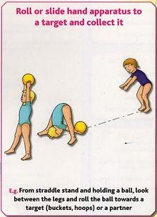 Gymnastics C12 - Roll or slide hand apparatus to ta