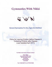 Gymnastics With Nikki Policy For Picking Dropping Off & Picking Up
