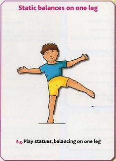 Gymnastics Pre-school - Static balances on one leg