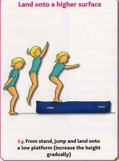 Gymnastics Pre-school - Land onto a higher surface