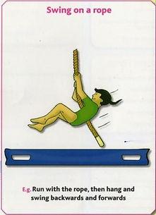 Gymnastics Pre-school - Swing on rope
