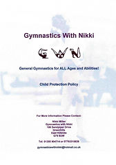 Gymnastics With Nikki Child Protection Policy