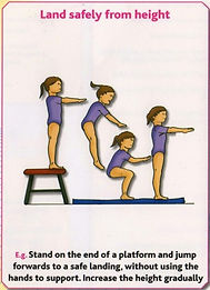 Gymnastics Pre-school - Land safely from height