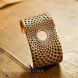 Bracelet Torus en Bronze Doré