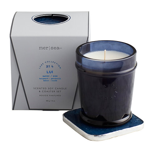 Mer-Sea Luxe 10oz Candle with Quartz Coaster - Lui