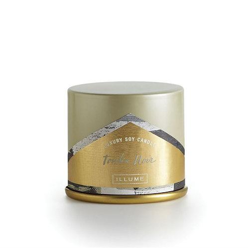 Illume Demi Vanity Tin Tonka Noir Candle