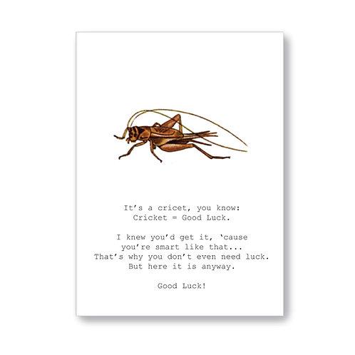 TokyoMilk - Card -  Cricket = Good Luck
