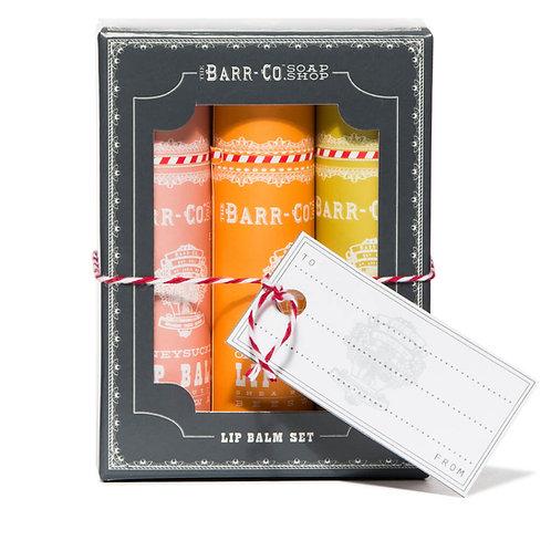 Barr-Co Lip Balm Gift Set - Warm Trio