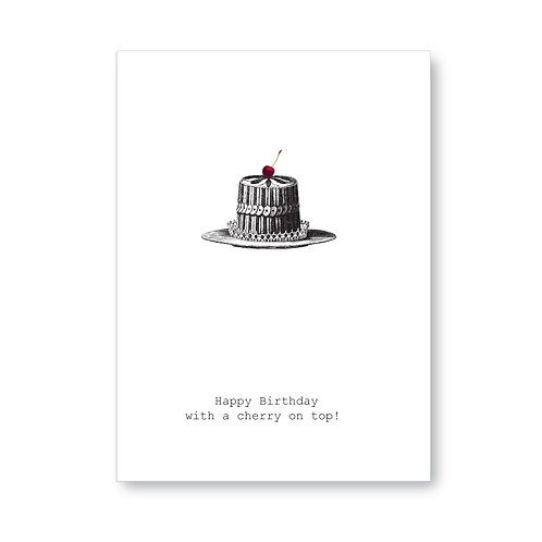 TokyoMilk - Card -  H Birthday With A Cherry On Top