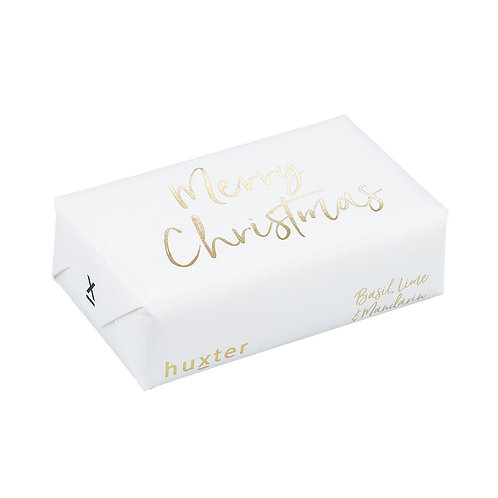 HUXTER BAR SOAP  White/Gold Merry Christmas