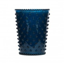 Simpatico - Hobnail Glass Candle Ambergris 72