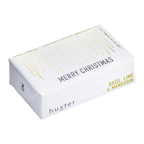 HUXTER BAR SOAP - MERRY CHRISTMAS - DROPLETS - GOLD FOIL
